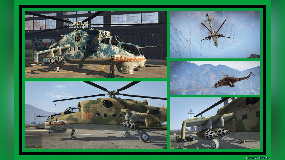 Mil Mi-24 Hind [Add-On] 2.1 для GTA 5