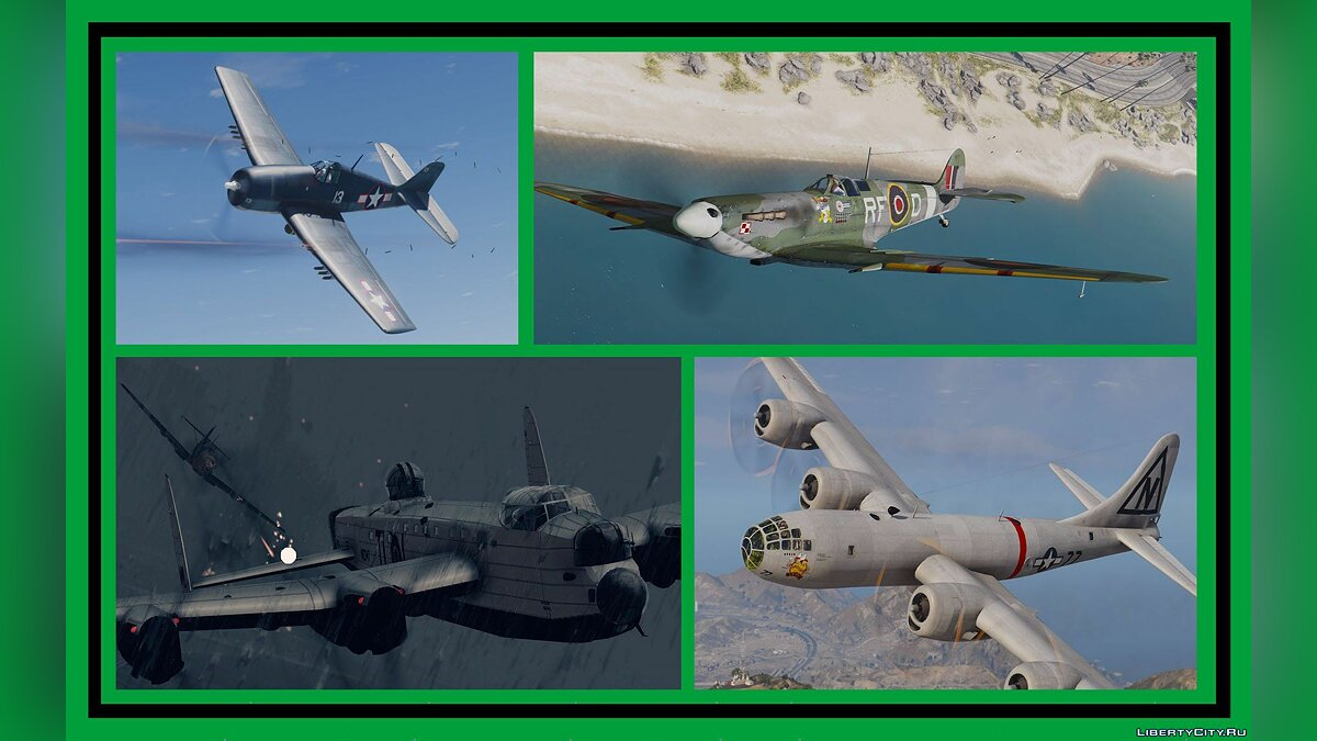 WWII Airplanes Pack [Add-On] 1.0 для GTA 5