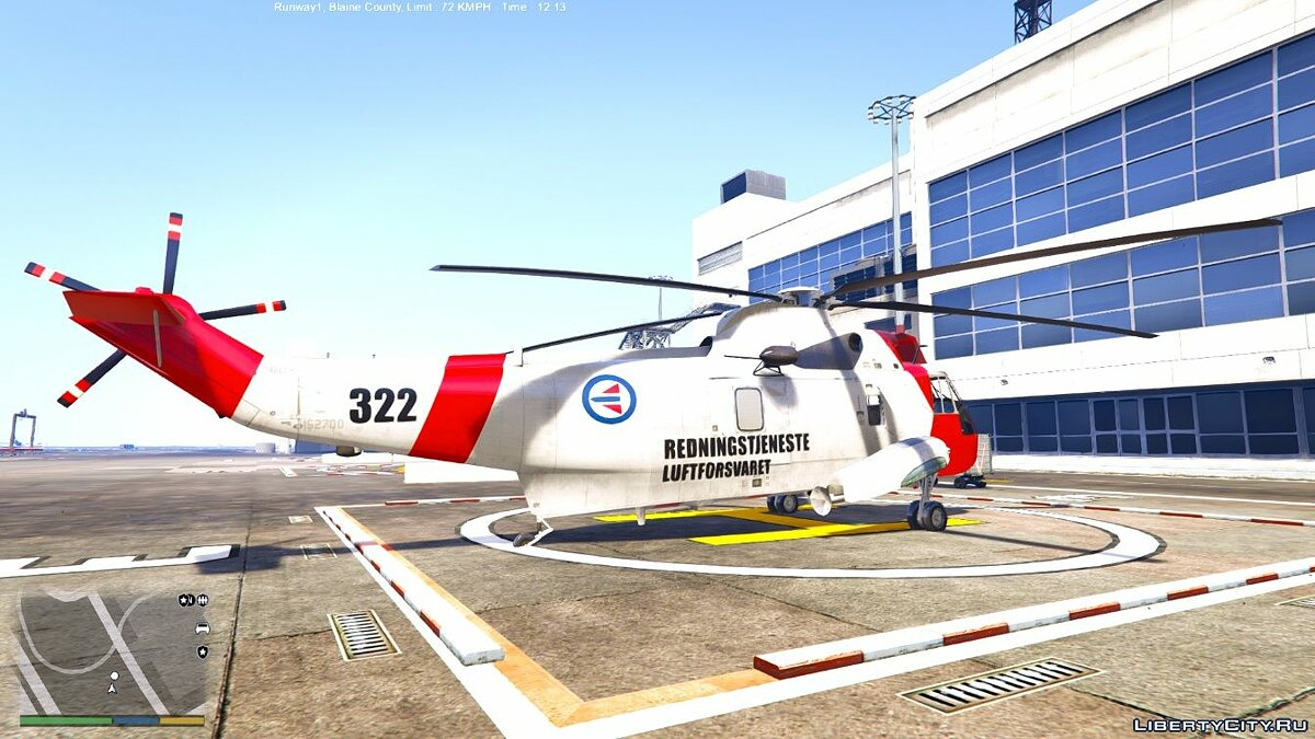Norwegian SeaKing Helicopter - SAR 0.1 для GTA 5 - скриншот #2