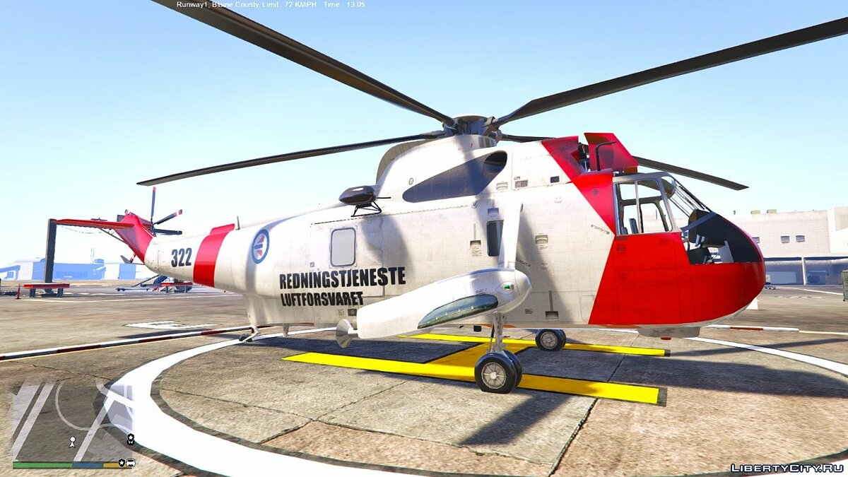 Norwegian SeaKing Helicopter - SAR 0.1 для GTA 5 - скриншот #3