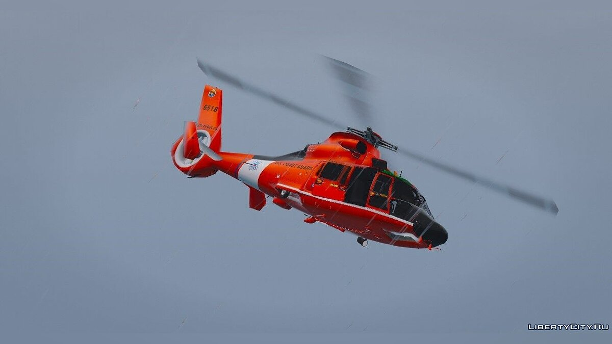 Eurocopter MH-65 Dolphin US Coast Guard [Replace] 1.0 для GTA 5