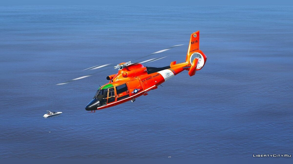 Eurocopter MH-65 Dolphin US Coast Guard [Replace] 1.0 для GTA 5 - скриншот #3