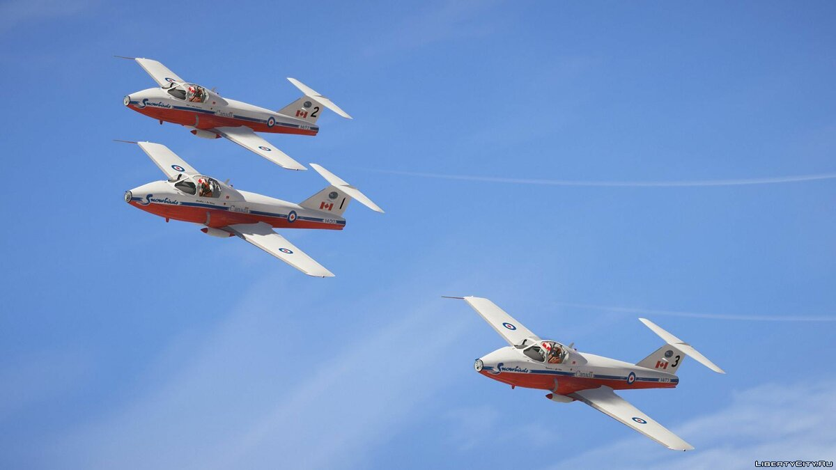 "CT-114 Tutor ""Snowbirds"" Canadian Display Team [Add-On] 1.0 для GTA 5"