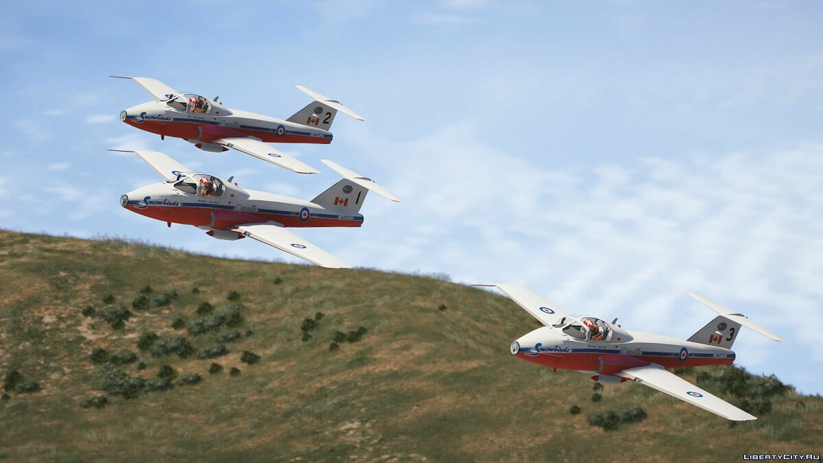 "CT-114 Tutor ""Snowbirds"" Canadian Display Team [Add-On] 1.0 для GTA 5 - скриншот #6"