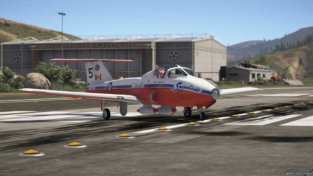 "CT-114 Tutor ""Snowbirds"" Canadian Display Team [Add-On] 1.0 для GTA 5 - скриншот #7"