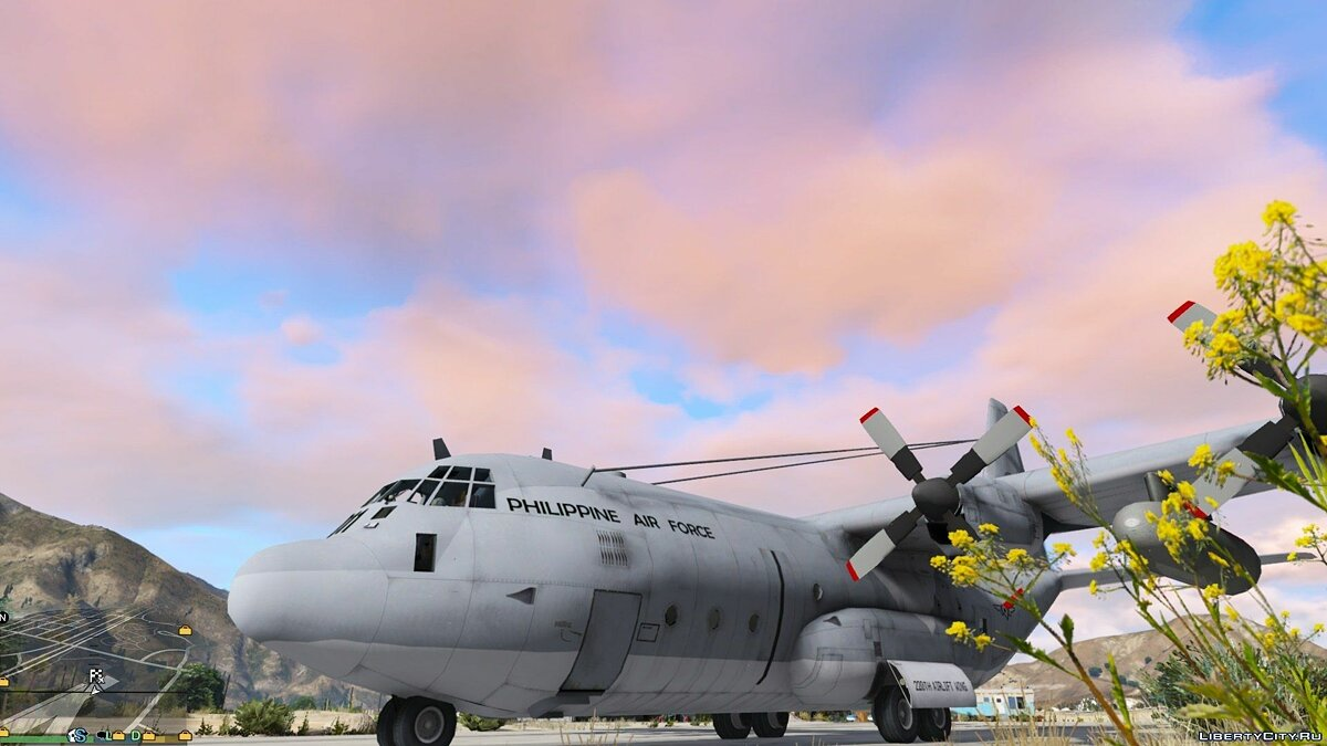 ��амолет и вертолет Philippine Air Force C-130T 1.0.1 для GTA 5