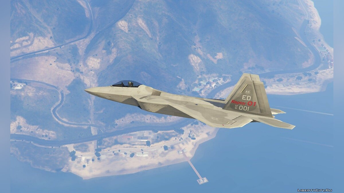 F-22 Raptor [Add-On] 1.7 для GTA 5 - скриншот #6