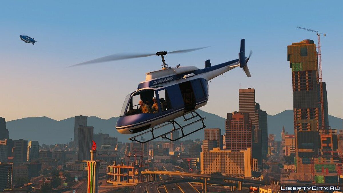 70s LAPD Helicopter 1.0.0 для GTA 5 - скриншот #3