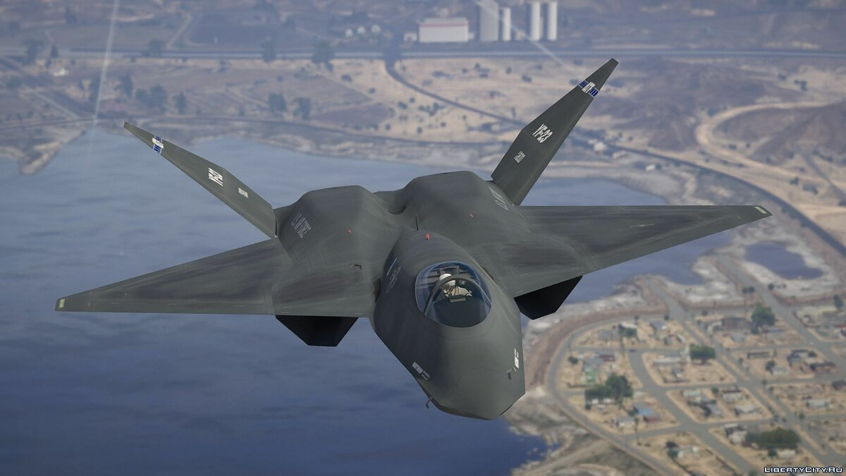 ��амолет и вертолет YF-23 Black Widow II [Add-On] 1.1 для GTA 5