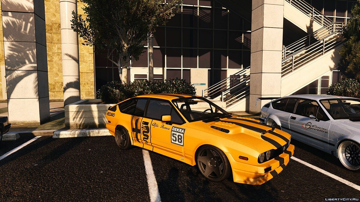 Машина Alfa Romeo Alfa Romeo Alfetta GTV6 [Add-On / Tuning / Template] 1.1 для GTA 5