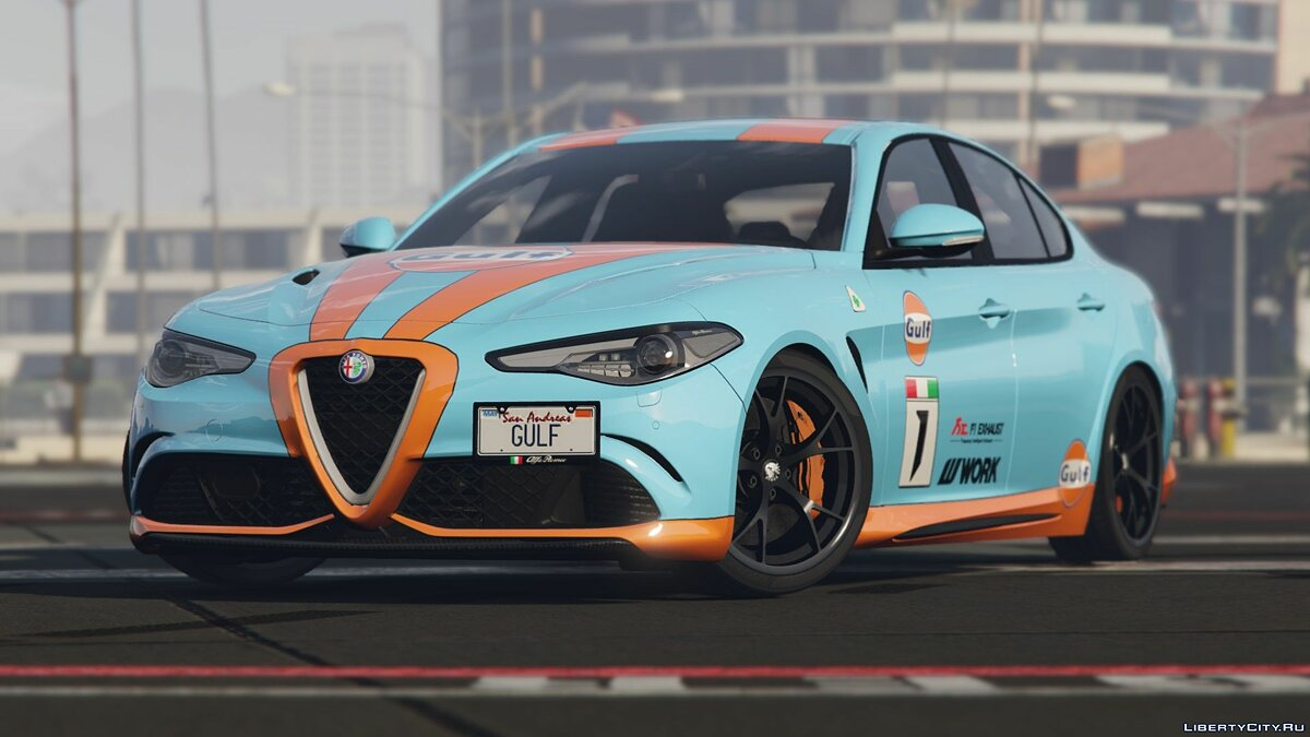 Машина Alfa Romeo 2017 Alfa Romeo Giulia Quadrifoglio HQ [Tuning/Add-on/Extras/Liveries] BETA для GTA 5