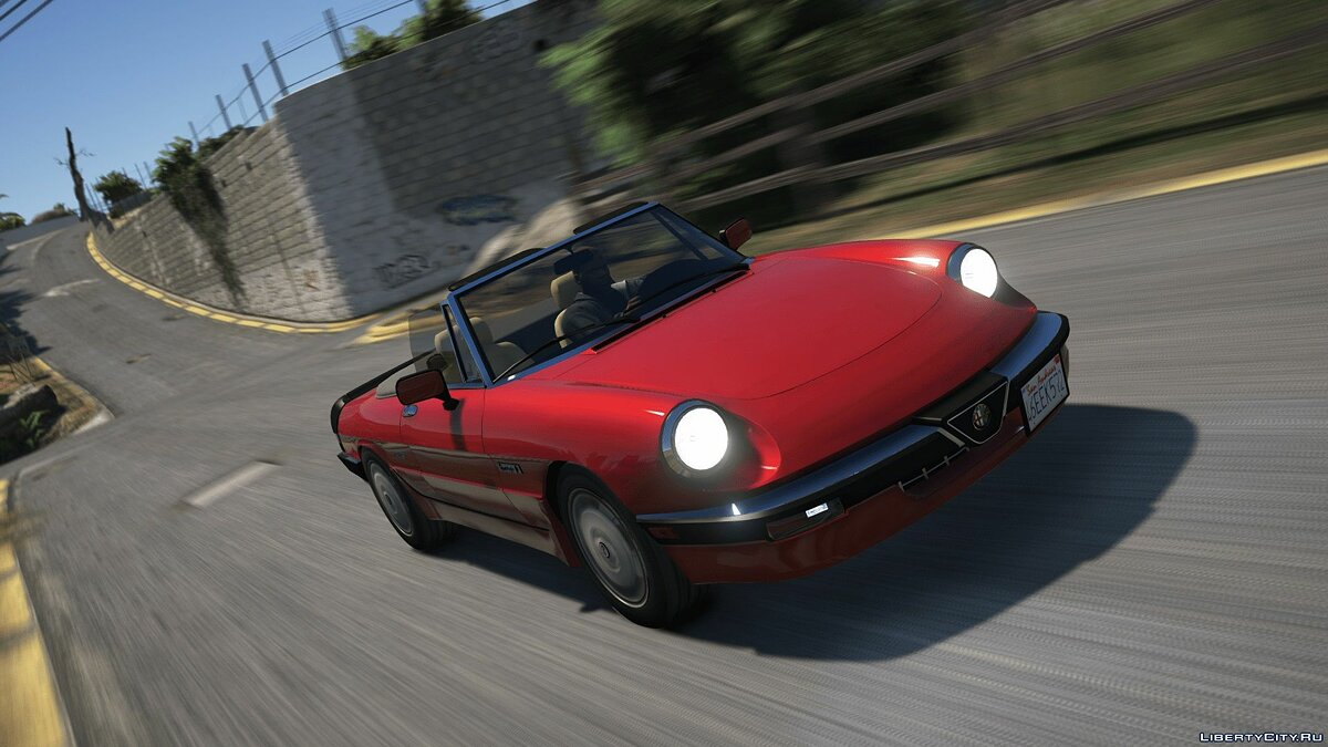 Машина Alfa Romeo Alfa Romeo Spider 115 (Add-on/Replace) 1.0 для GTA 5