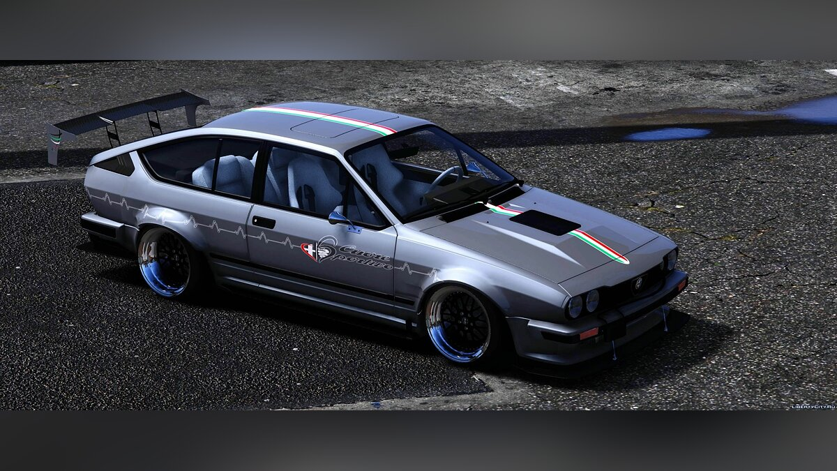 Машина Alfa Romeo Alfa Romeo Alfetta GTV6 DTD Spec [Add-On / Template] 1.1 для GTA 5