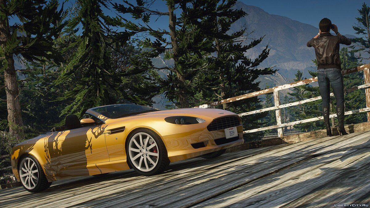 Машина Aston Martin Aston Martin DB9 Volante [Replace] Beta 0.5 для GTA 5