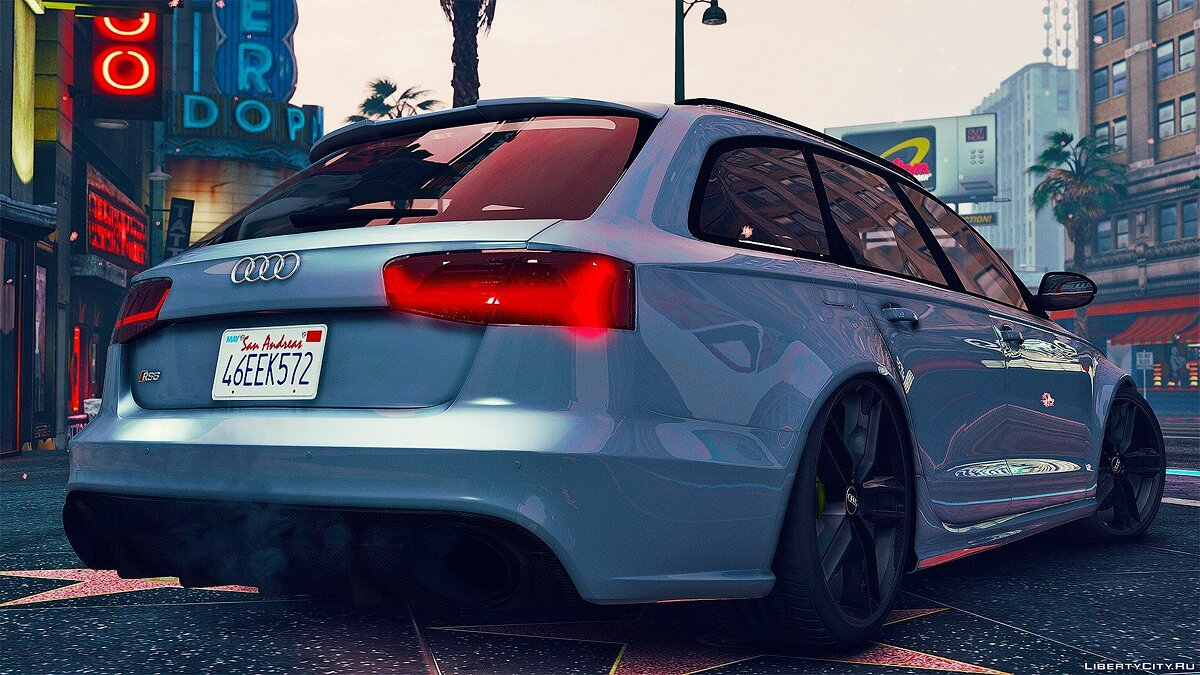 2015 Audi RS6 C7 Avant [Add-On | Tuning | HQ] 1.3 для GTA 5 - скриншот #2