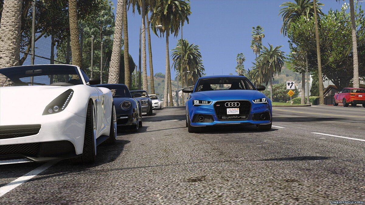 2015 Audi RS6 C7 Avant [Add-On | Tuning | HQ] 1.3 для GTA 5 - скриншот #4