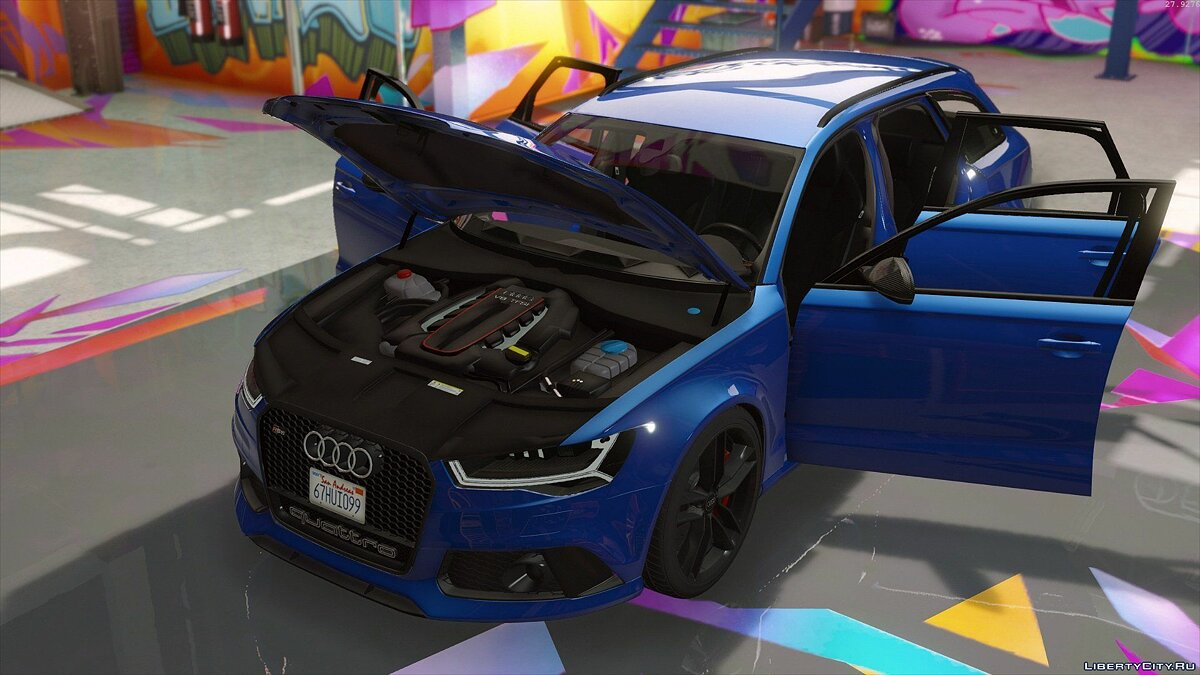 2015 Audi RS6 C7 Avant [Add-On | Tuning | HQ] 1.3 для GTA 5 - скриншот #6