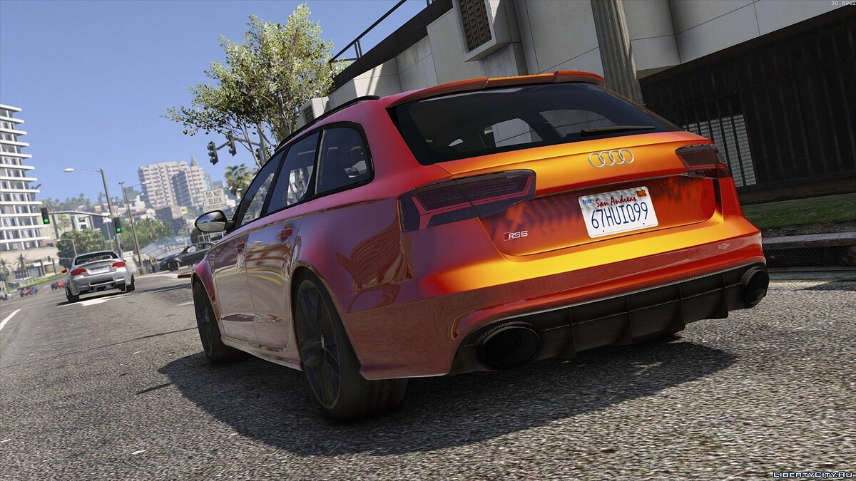 2015 Audi RS6 C7 Avant [Add-On | Tuning | HQ] 1.3 для GTA 5 - скриншот #8