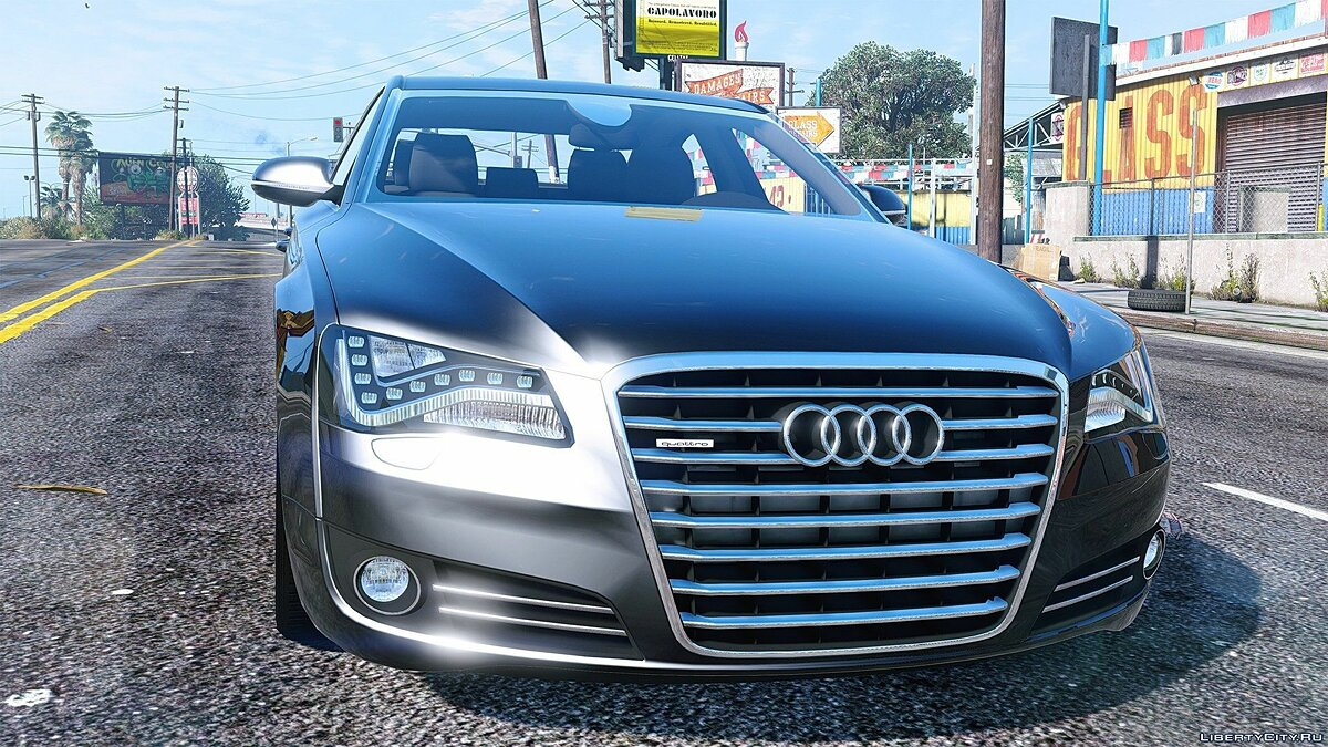 2010 Audi A8 FSI [Add-On / Replace] 3.0 для GTA 5 - скриншот #3