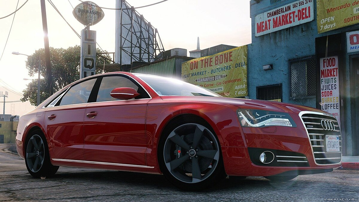 2010 Audi A8 FSI [Add-On / Replace] 3.0 для GTA 5 - скриншот #4
