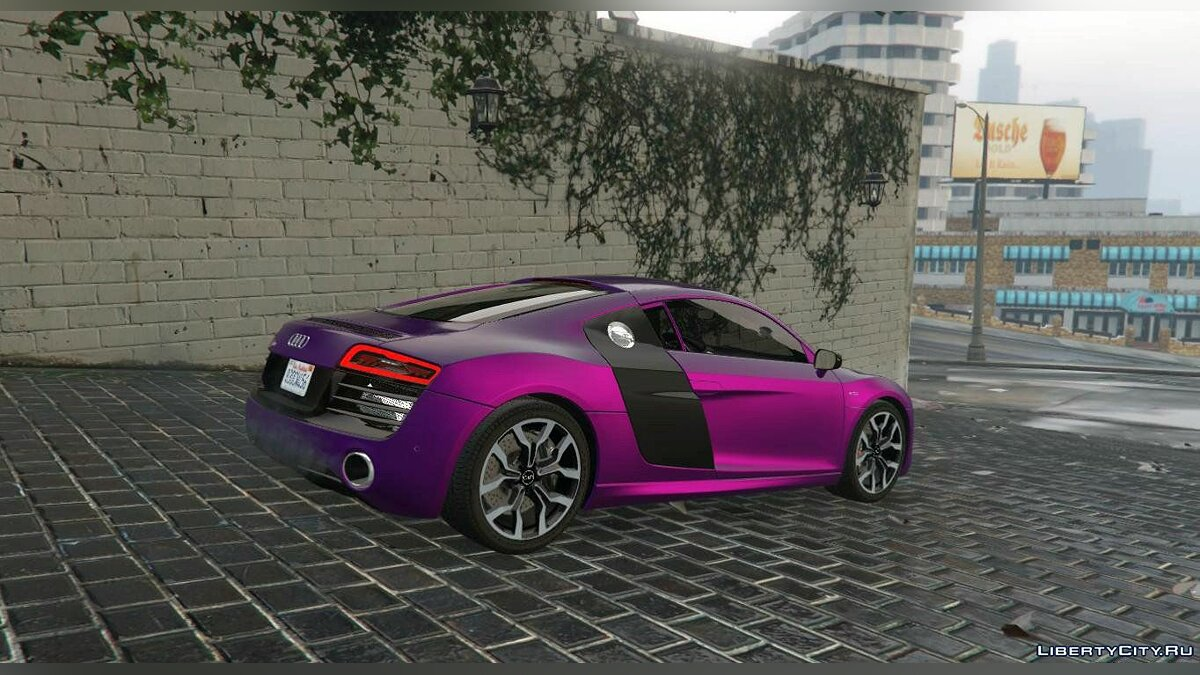 2013 Audi R8 5.2 FSI Quattro Plus [Replace] 1.0 для GTA 5 - скриншот #5