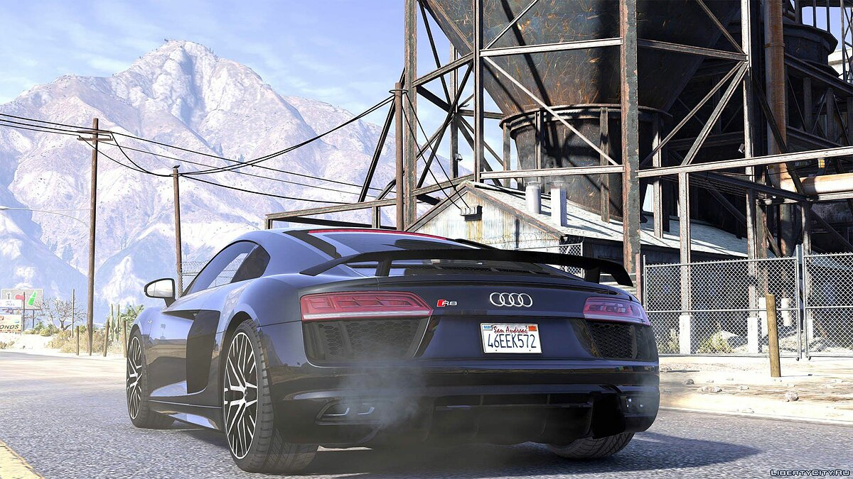 Audi R8 V10 Plus 2017 [Add-On / Replace | Animated | Template | Digital Dials & Analog] 1.1 для GTA 5 - скриншот #2