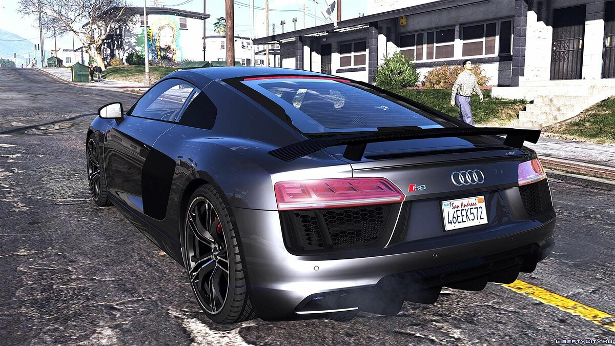 Audi R8 V10 Plus 2017 [Add-On / Replace | Animated | Template | Digital Dials & Analog] 1.1 для GTA 5 - скриншот #7