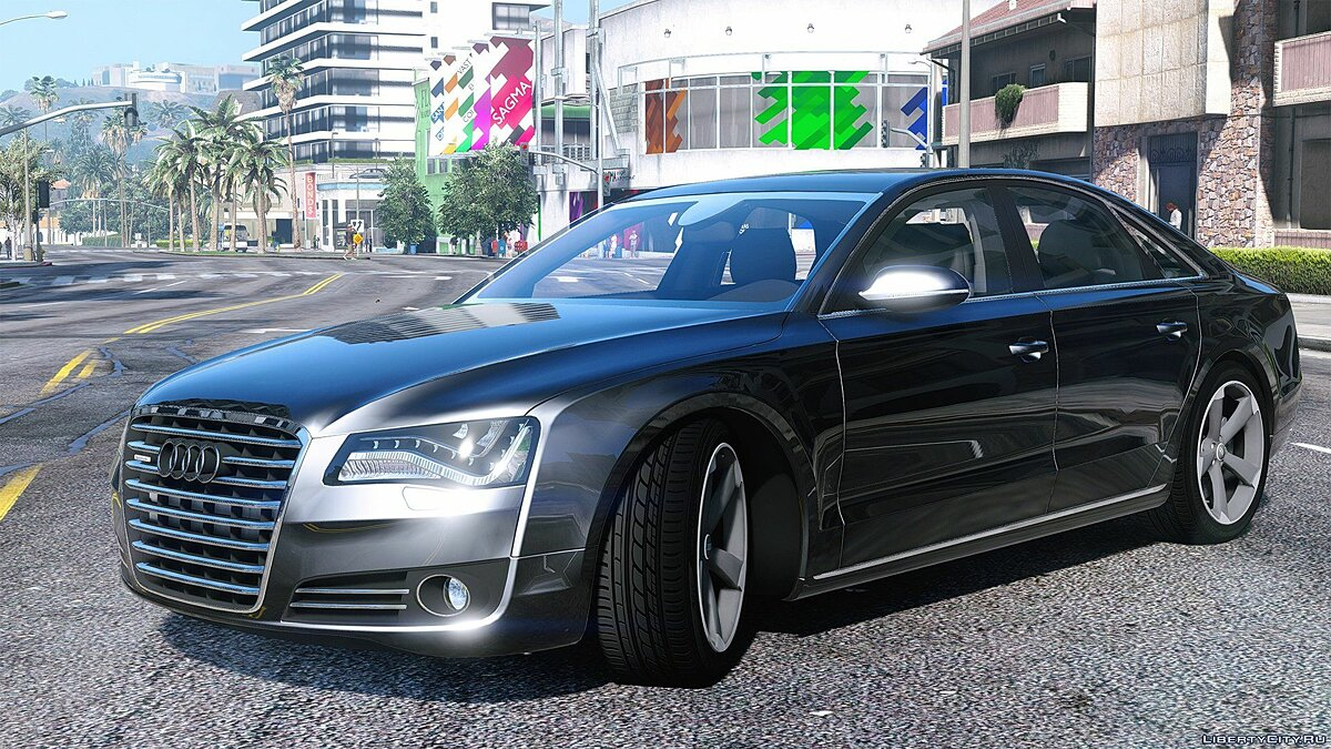 2010 Audi A8 FSI [Add-On / Replace] [FINAL] для GTA 5 - скриншот #2