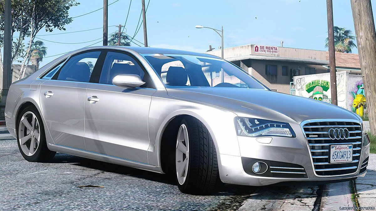 2010 Audi A8 FSI [Add-On / Replace] [FINAL] для GTA 5 - скриншот #3
