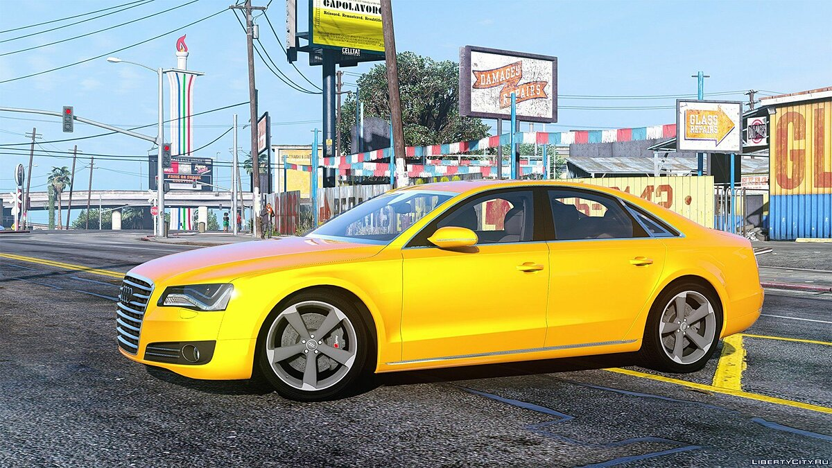 2010 Audi A8 FSI [Add-On / Replace] [FINAL] для GTA 5 - скриншот #4