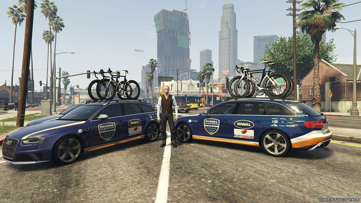 Audi RS4 Avant CyclingTeamCar 1.0 для GTA 5