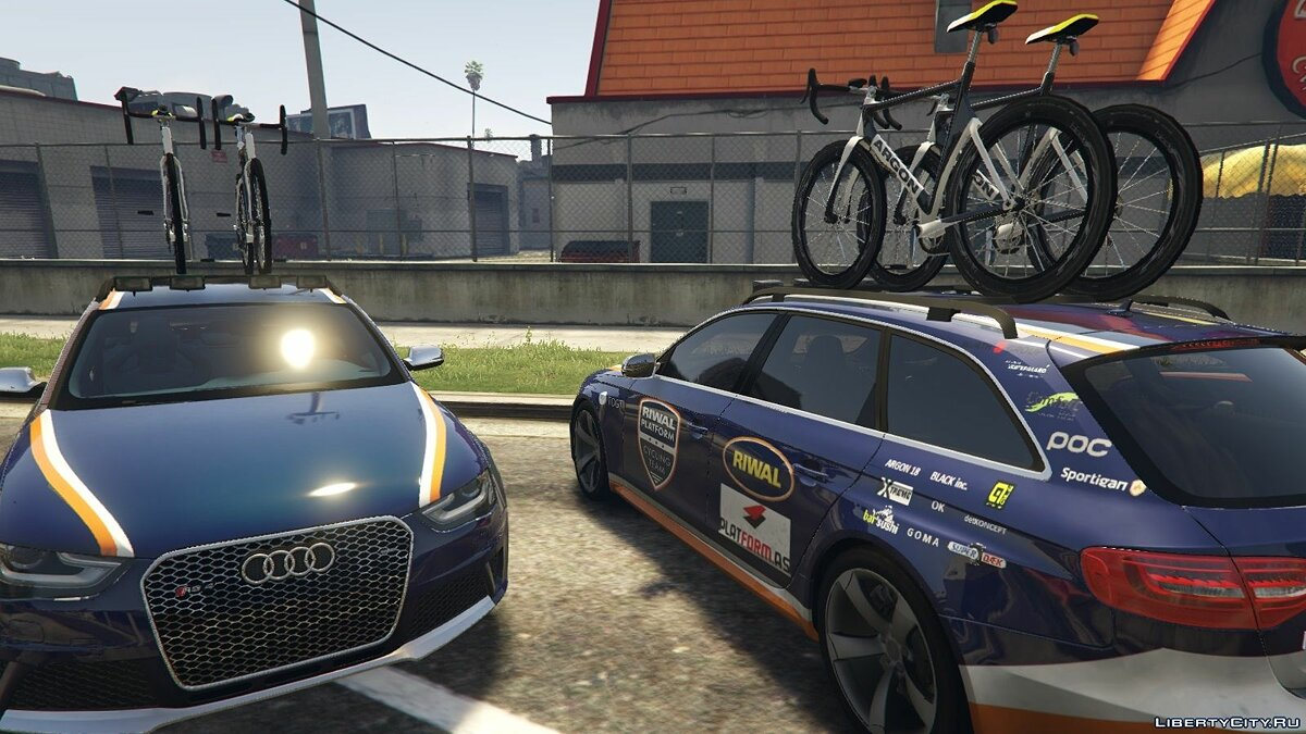 Audi RS4 Avant CyclingTeamCar 1.0 для GTA 5 - скриншот #2