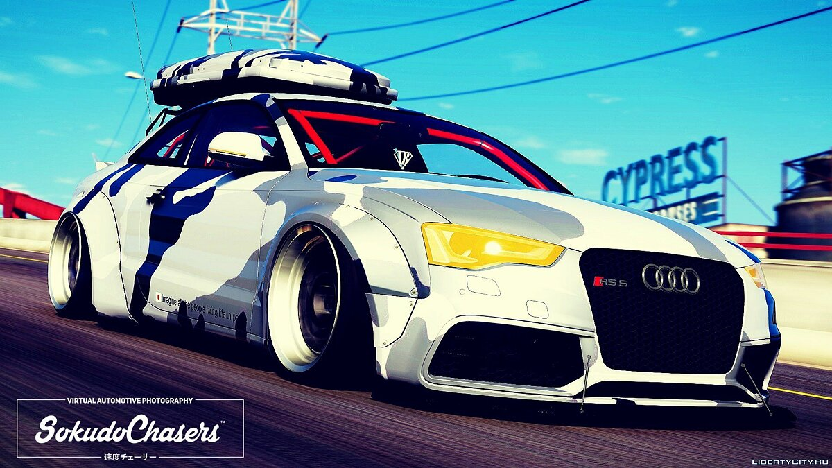 ��ашина Audi Audi Rs5 Libertywalk [ADDON-REPLACE] 1.0 для GTA 5