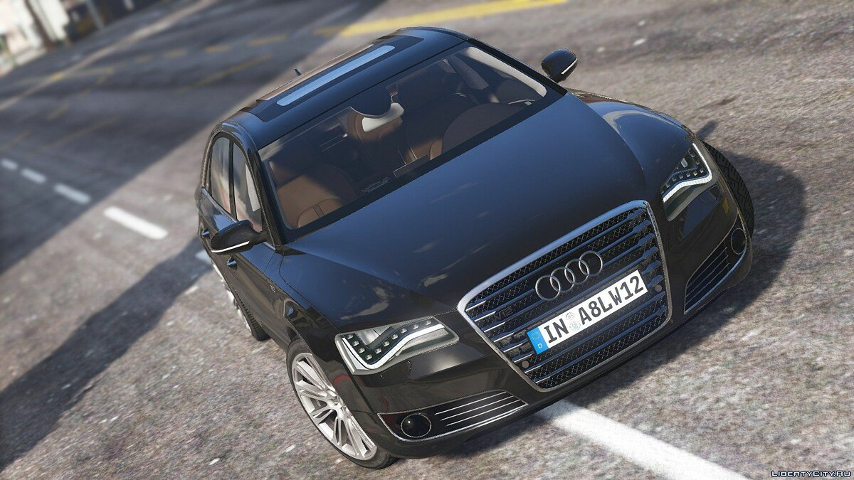 2010 Audi A8 L W12 Quattro [Add-On] 1.1 для GTA 5 - скриншот #2