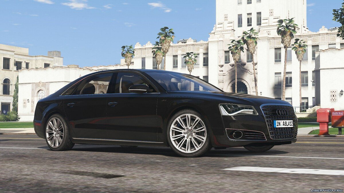 2010 Audi A8 L W12 Quattro [Add-On] 1.1 для GTA 5 - скриншот #3