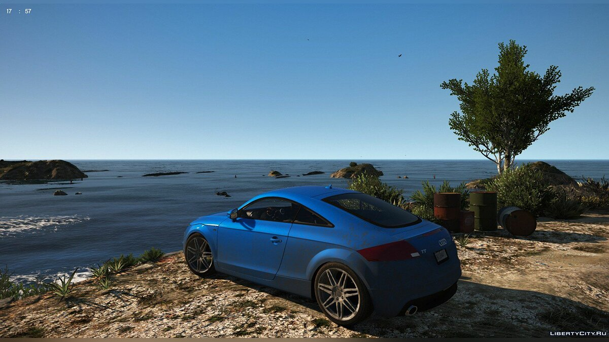 Машина Audi Audi TT Coupe S-Line 3.2 Quattro 2007 [ADD-ON/MOVEABLE SPOILER/VIBRATING EXHAUST/DIRT MAPPED] V1.0 для GTA 5