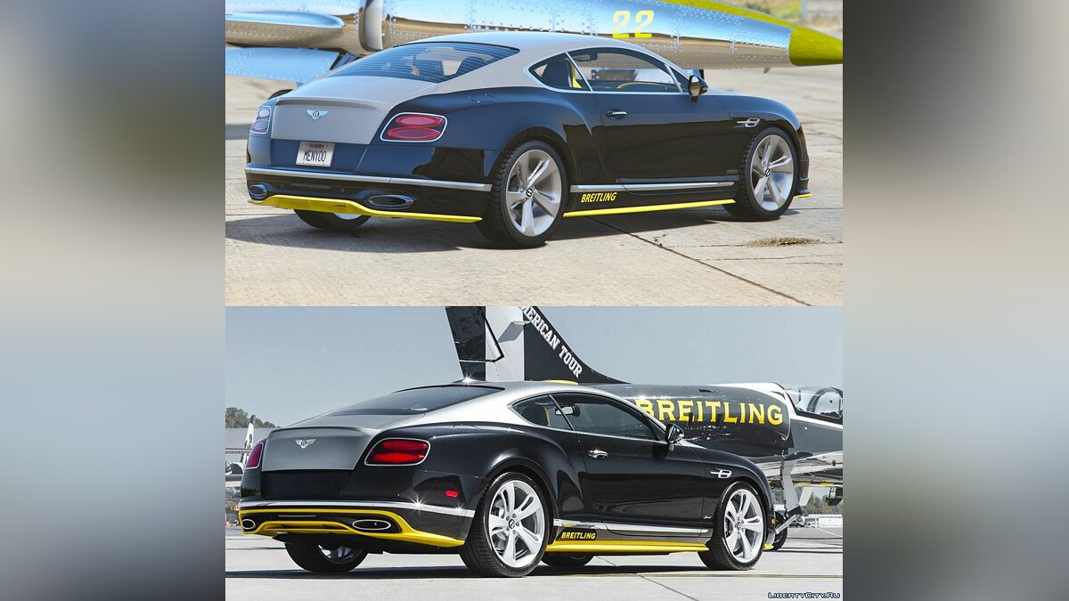 Bentley Continental GT Breitling Jet Team [replace/addon] 1.0 для GTA 5 - скриншот #4