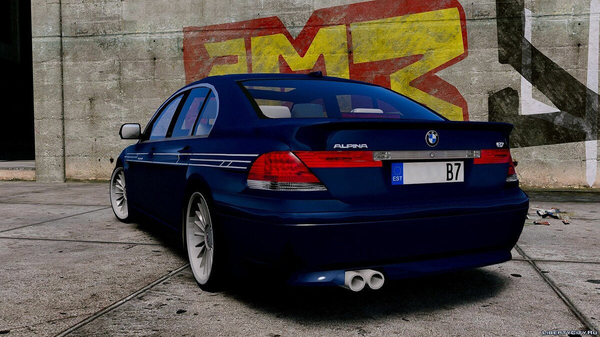2004 BMW Alpina B7 (E65 Pre-Facelift) [Add-On/Replace/Extras] 2.0 для GTA 5 - скриншот #2