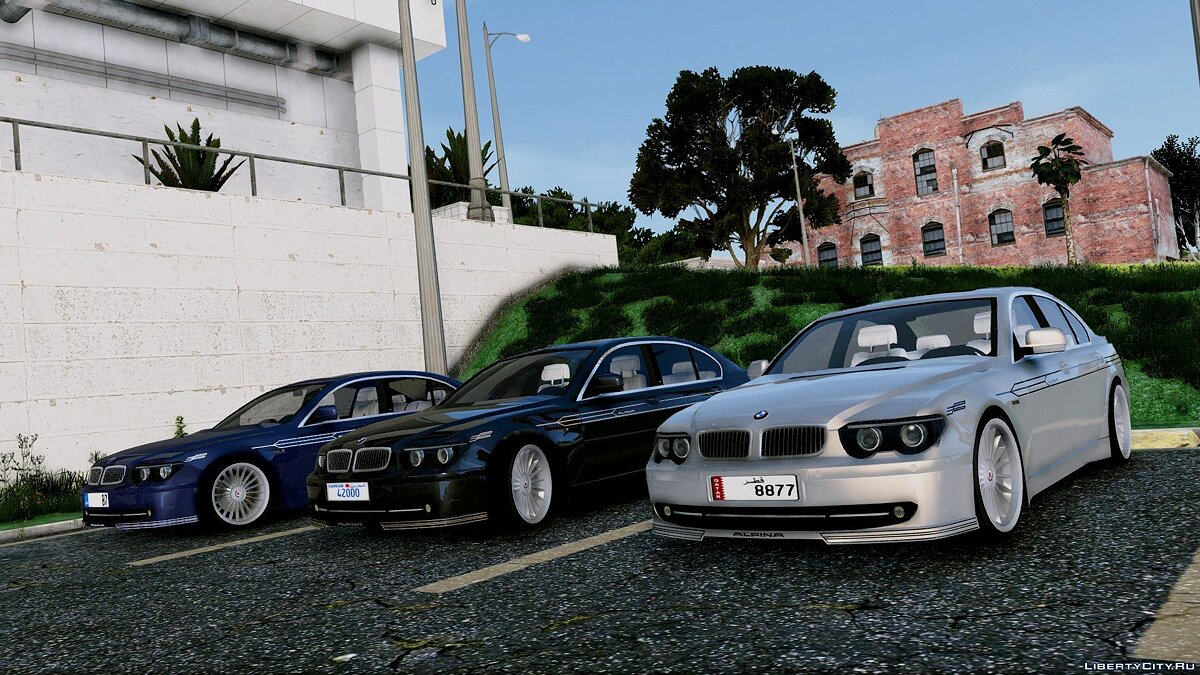 2004 BMW Alpina B7 (E65 Pre-Facelift) [Add-On/Replace/Extras] 2.0 для GTA 5 - скриншот #5