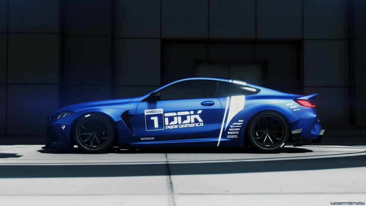 Машина BMW 2018 BMW M8 Competition MANSAUG [Add-On | OIV | Replace | Tuning | Template | Digital Dials] 2.1a для GTA 5