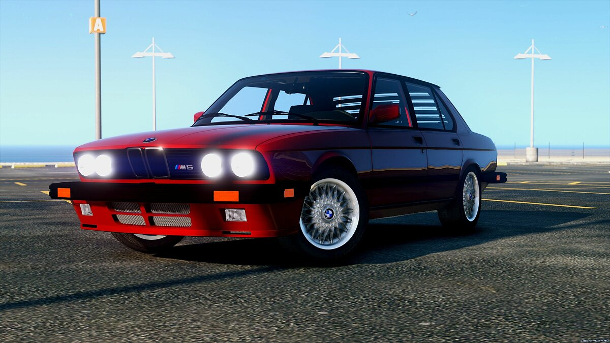 1985 BMW M5 E28 NA-spec [Add-On / Replace] 2.0 для GTA 5 - скриншот #2