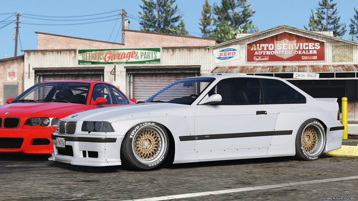 1992 BMW M3 E36 Pandem Rocket Bunny [Replace] 2.0 для GTA 5