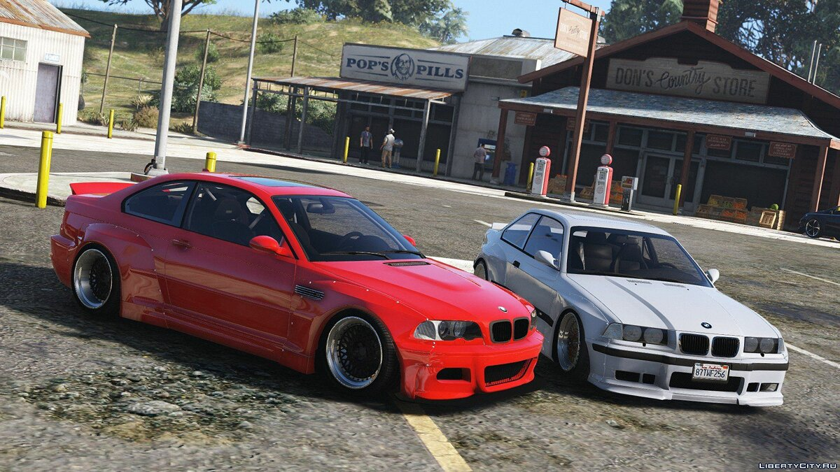 1992 BMW M3 E36 Pandem Rocket Bunny [Replace] 2.0 для GTA 5 - скриншот #4