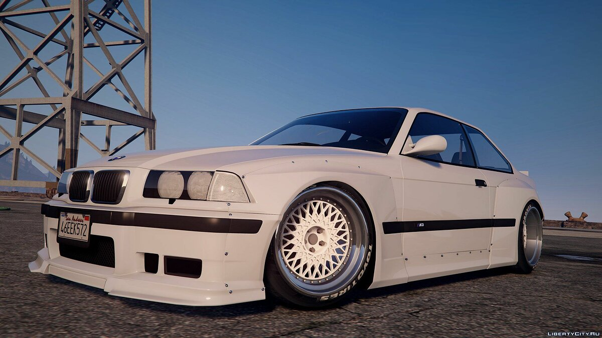 1992 BMW M3 E36 Pandem Rocket Bunny [Replace] 2.0 для GTA 5 - скриншот #5
