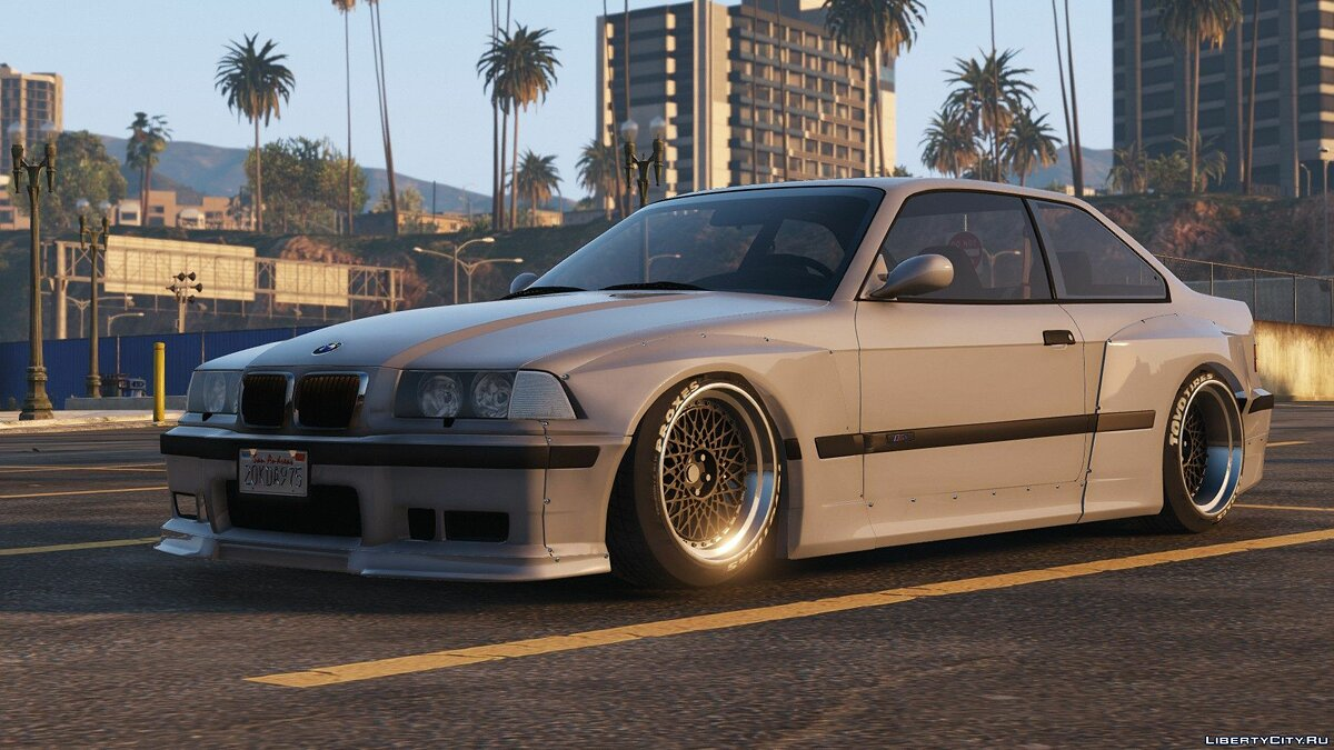 1992 BMW M3 E36 Pandem Rocket Bunny [Replace] 2.0 для GTA 5 - скриншот #7
