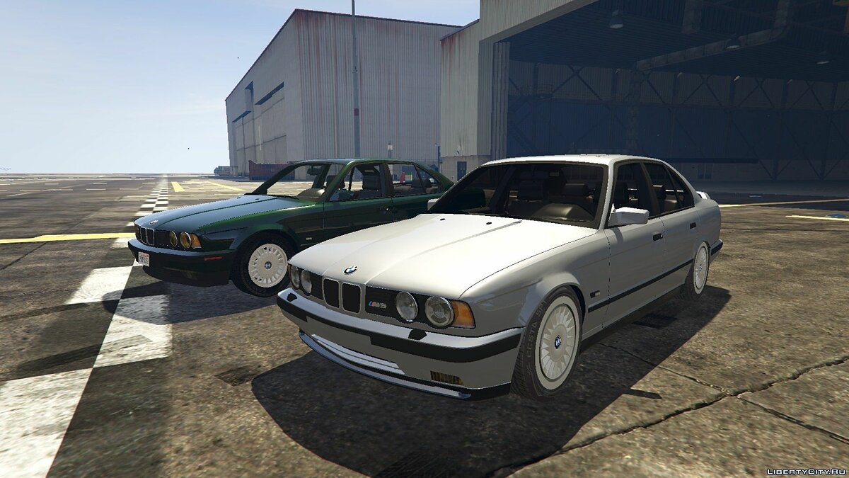 BMW E34 1991 - M5 Part + Style 2 & 20 Rims для GTA 5 - скриншот #5