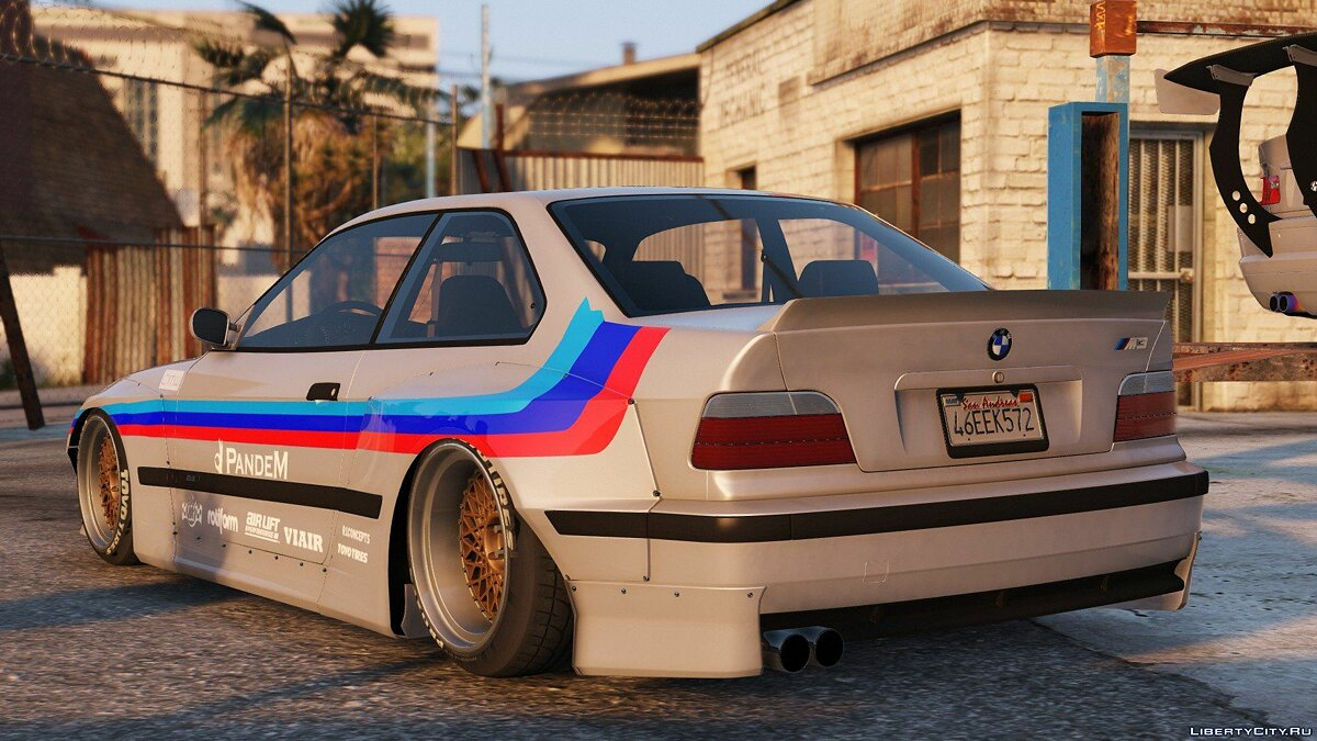 1992 BMW M3 E36 Pandem Rocket Bunny [Add-On / Replace | Tuning] 2.2 для GTA 5 - скриншот #2