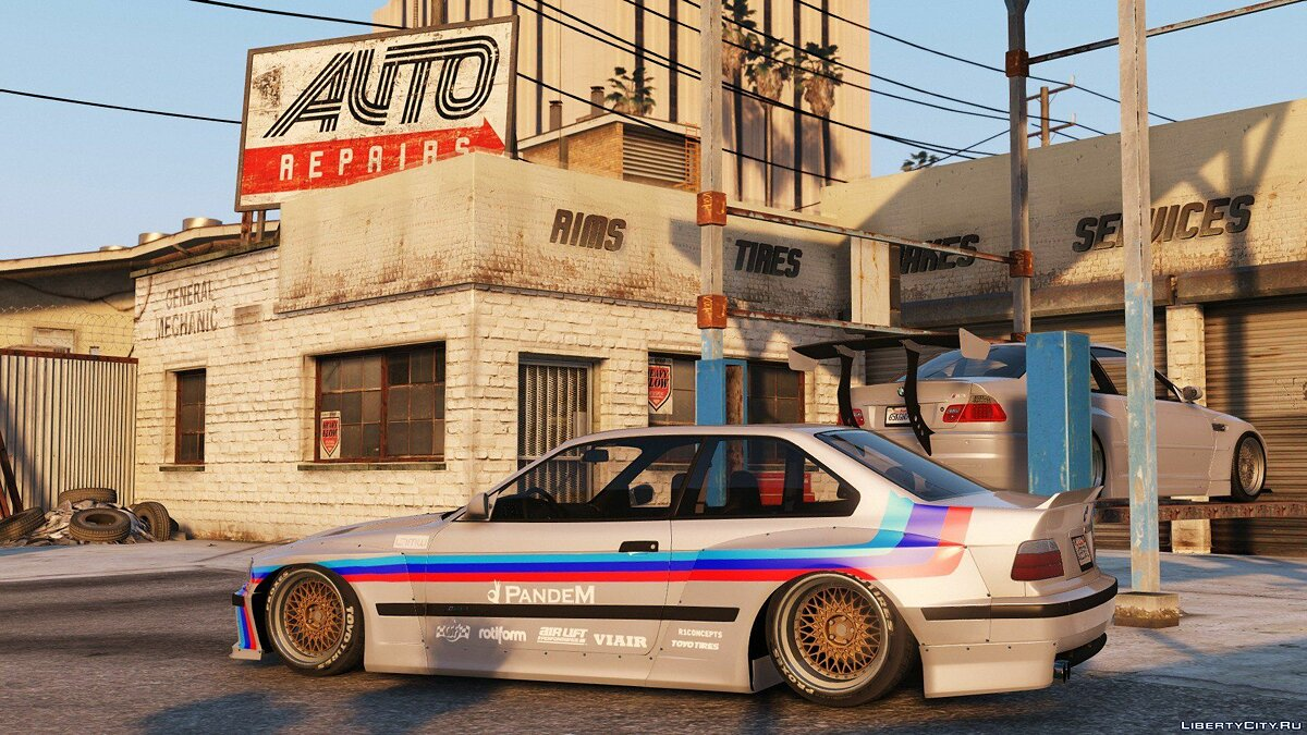 1992 BMW M3 E36 Pandem Rocket Bunny [Add-On / Replace | Tuning] 2.2 для GTA 5 - скриншот #3
