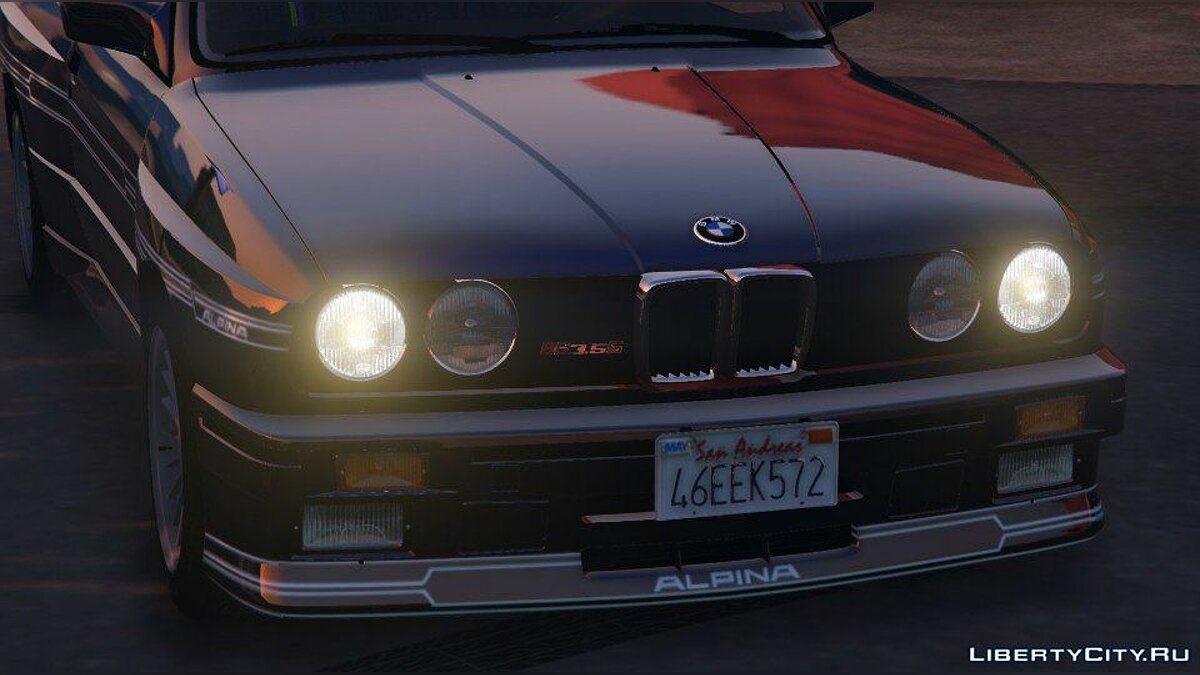 1989 Alpina B6 3.5s [Add-On / Replace | Livery] (BMW E30) 1.0 для GTA 5 - скриншот #9