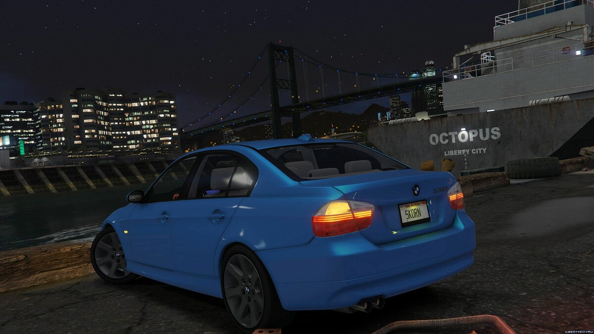 Машина BMW 2007 BMW 330i E90 [Add-On / Replace] 1.6 для GTA 5